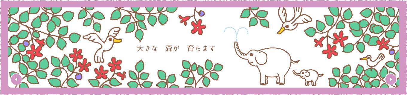 画像:ベルメゾンの森キービジュアル(hero image)flashアニメ4コマ目
