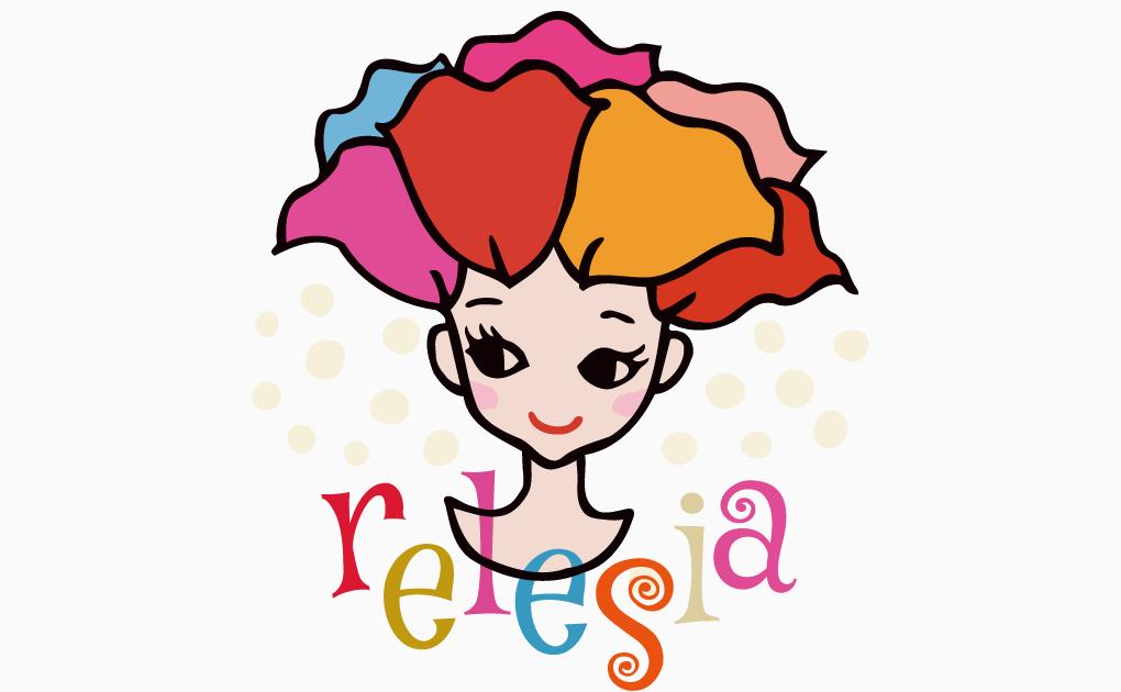 イラスト:relesiaロゴ(2015年個展バージョン)