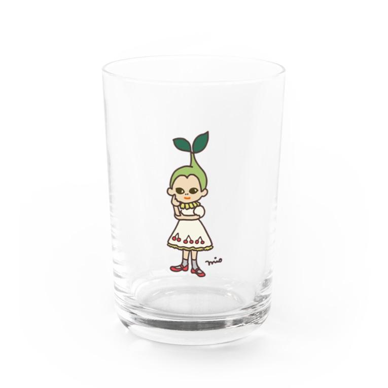さくらんぼガール(さくらんぼ模様なし)グラス