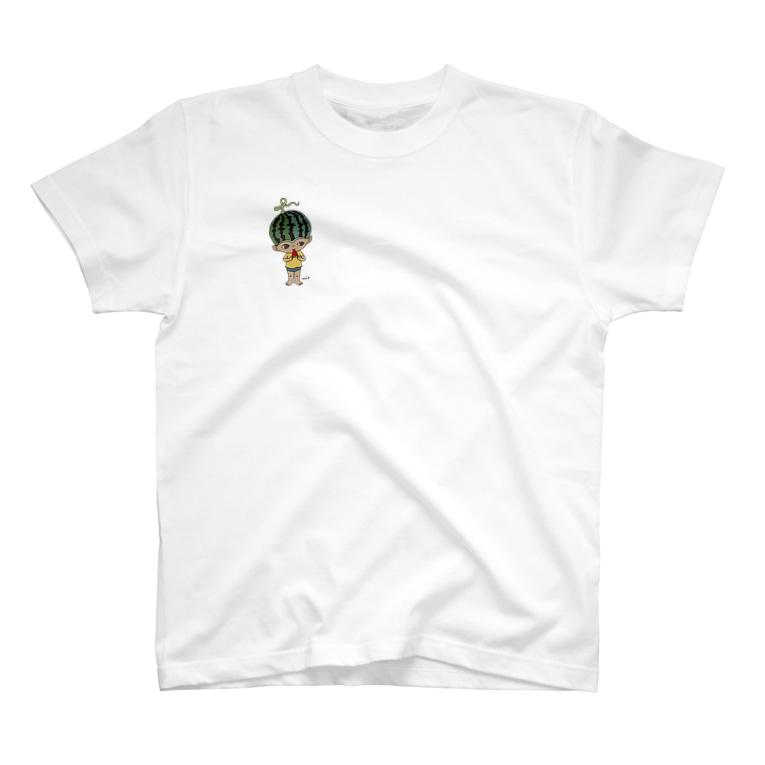 写真:スイカボーイTシャツ(右胸ワンポイント)